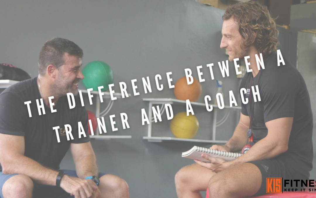 THE DIFFERENCE BETWEEN A TRAINER AND A COACH